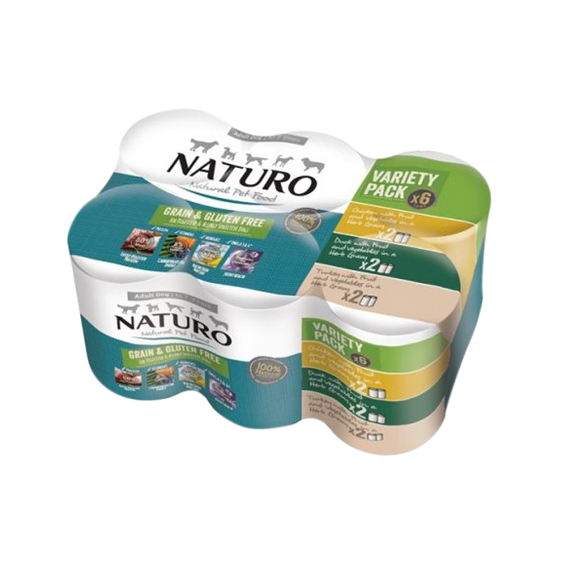 Naturo - Dog Cans - Grain Free Variety Pack 6pk (Case of 4)