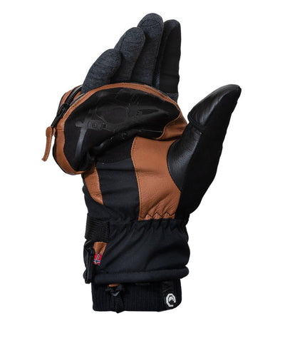 Vallerret Photography Glove | Skadi Zipper Mitt (Brown) by Vallerret Photography Gloves