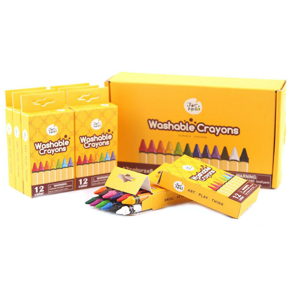 Jar Meló Washable Crayons Bulk Set - 12 COLORS