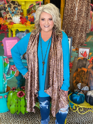 **CLEARANCE** Prowling Around Velvet Cheetah Vest