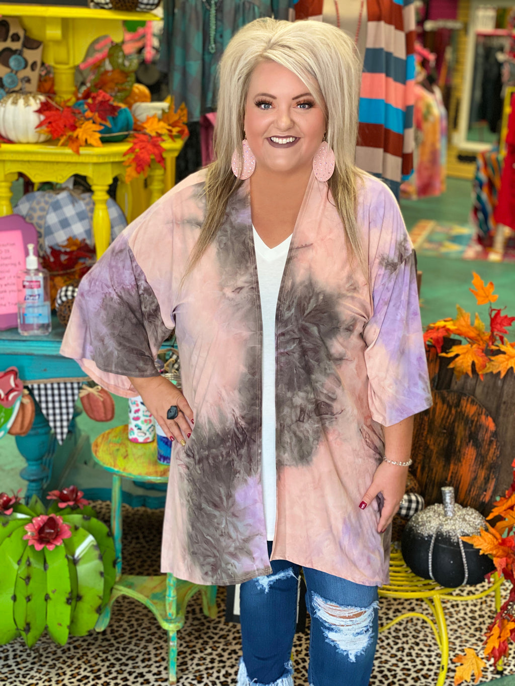 Over The Moon Tie Dye Kimono