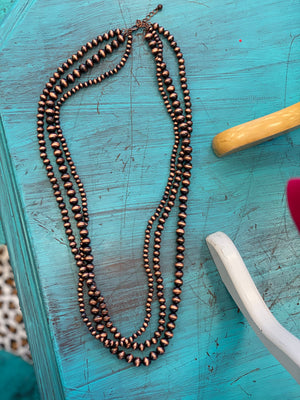 The Naomi Navajo Multi Strand Necklace - COPPER