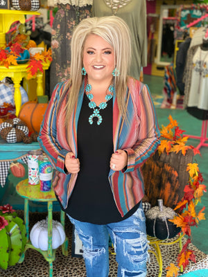 Blaze Your Own Trail Serape Blazer