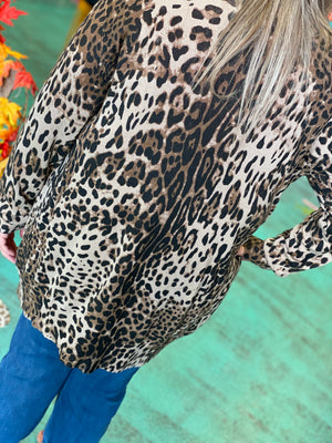 Cover Me In Leopard Button Cardigan