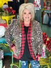 Wild For The Holidays Leopard Plaid Kimono