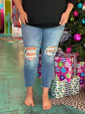 The Elly Knee Distressed Skinny Jeans