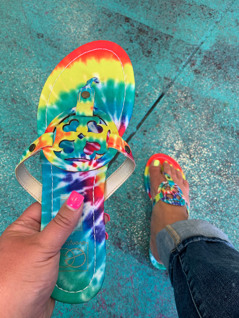 *Clearance*Groovy  Baby Tie Dye Sandals