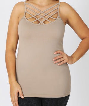 Criss Cross Camis (Multiple Color Options)