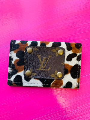Leopard LV Credit Card Holder