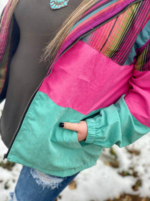 Three Times A Charm Colorblock Jacket