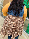 Livin' On Love Denim Leopard Vest