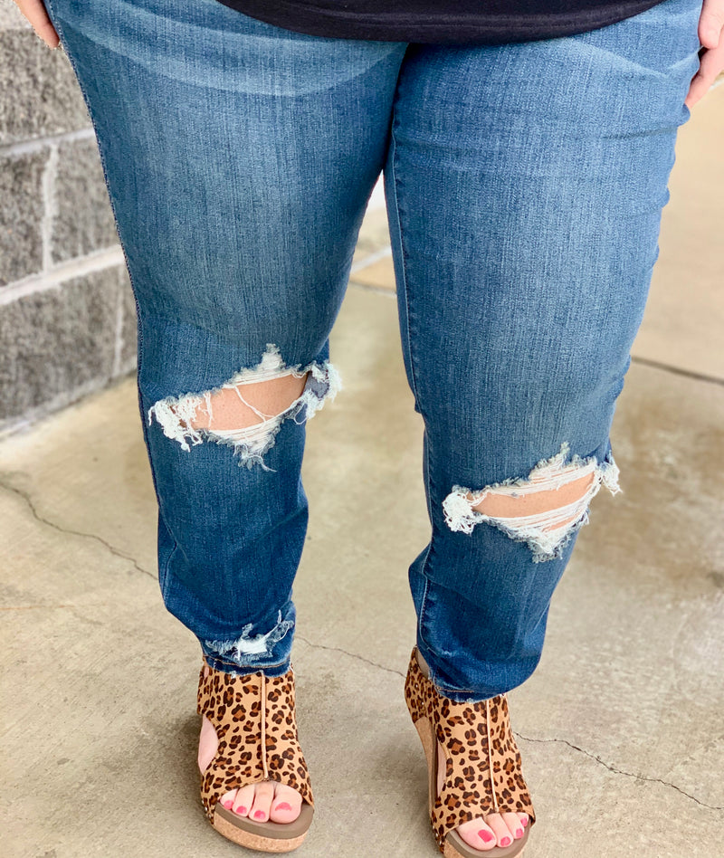 The Montana Shredded Ankle Skinny Jeans