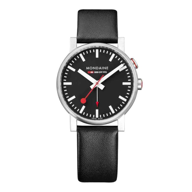 evo2, 40mm, black leather watch, A468.30352.14SBB