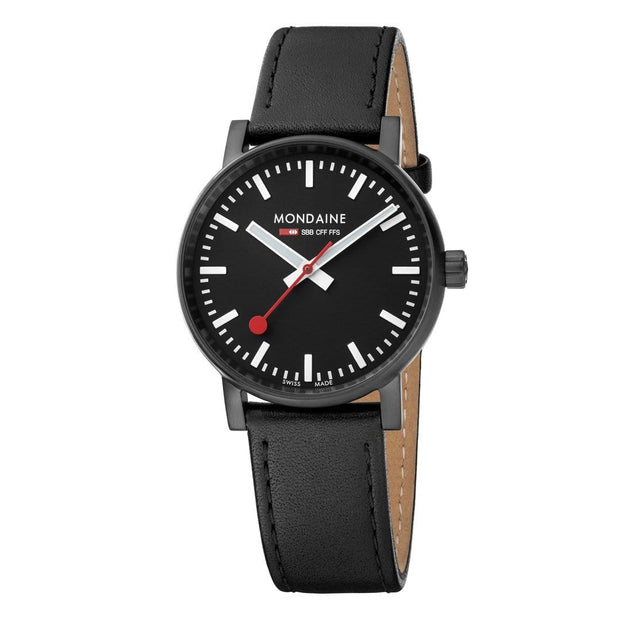Mondaine Black and White evo2 Watch