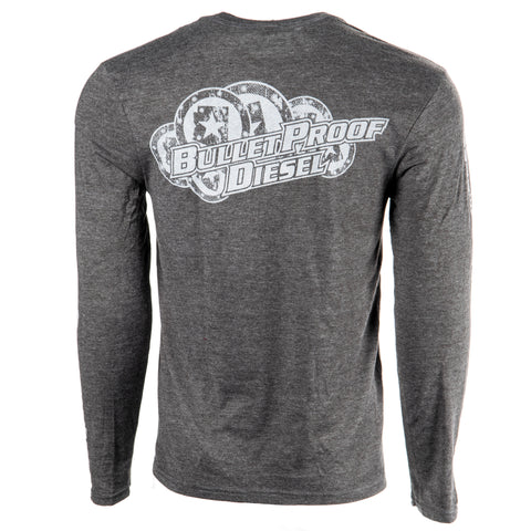 Bullet Proof Diesel LS T-Shirt - Stack, Gray