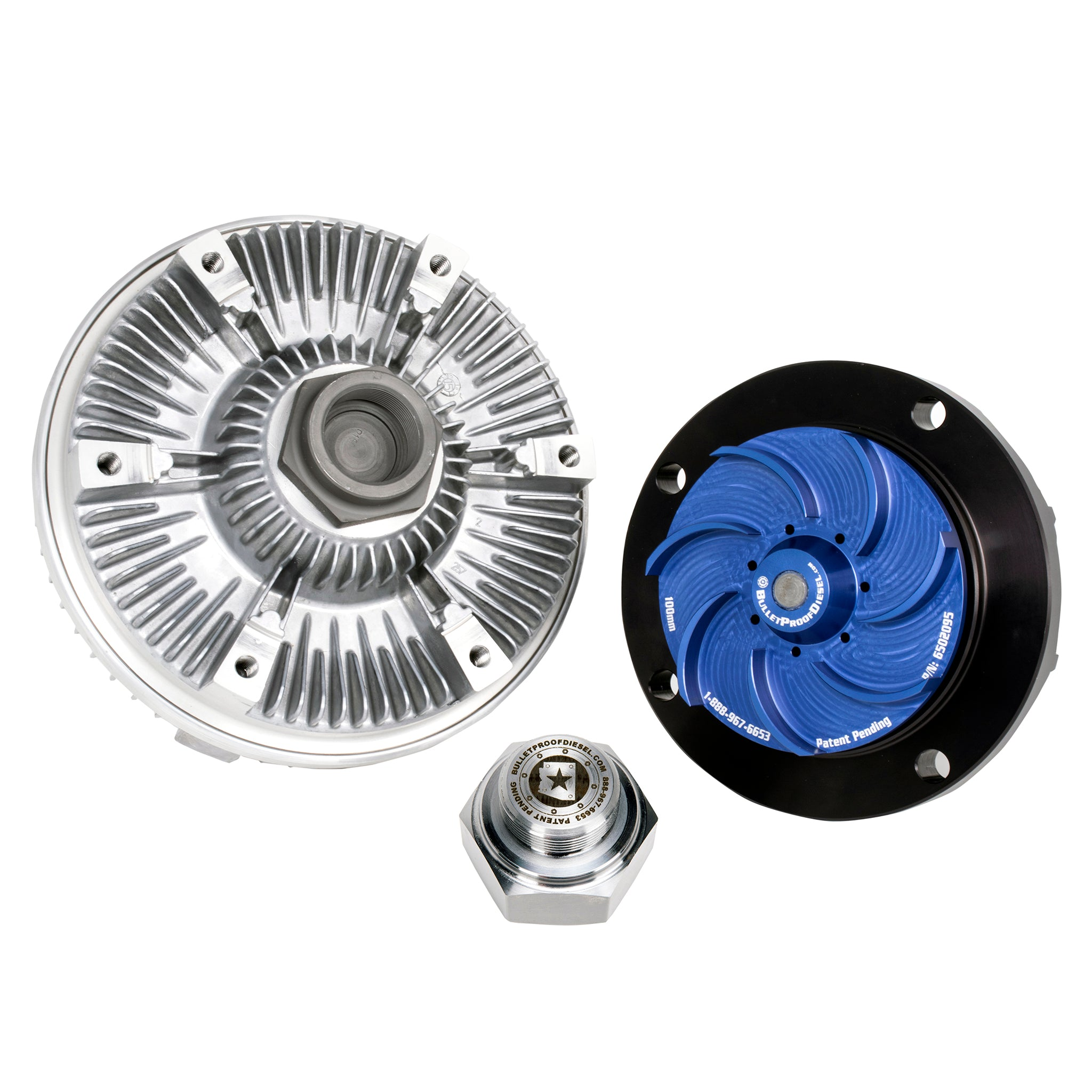 Bullet Proof Diesel Cooling System Upgrade Kit, Ford 6.0L Diesel, 100MM Water Pump Impeller