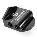 Oil Filter Adapter; Black Anodized, Ford 6.0L