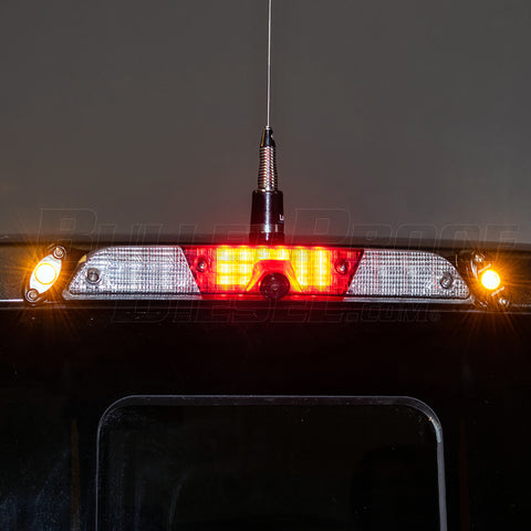 Third Brake Light Antenna Mount - With Rigid LEDs - 2017+ Ford SuperDuty
