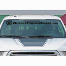 BulletProofDiesel Winshield Decal - Curved