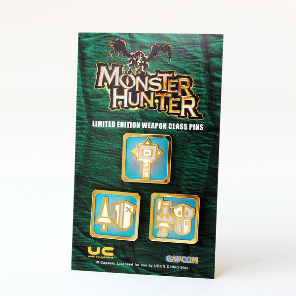 Monster Hunter Blunt Weapon Pin Set