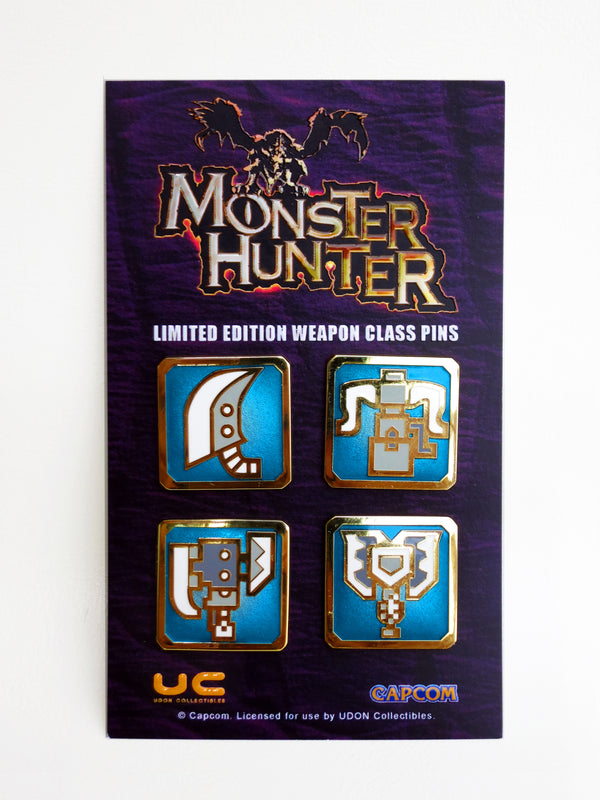 Monster Hunter Heavy Weapon Pin Set