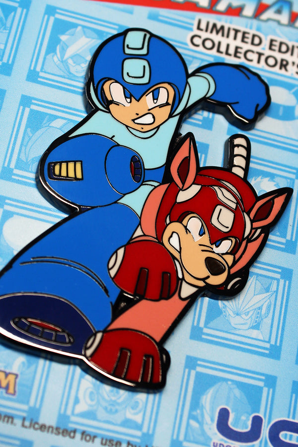 Mega Man & Rush Hard Enamel Collector's Pin