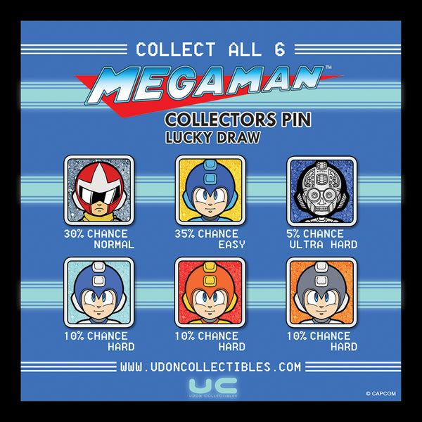 Mega Man Lucky Draw Pins