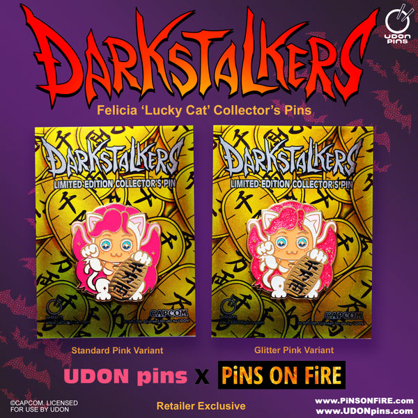 Darkstalkers Lucky Felicia Collector's Pin