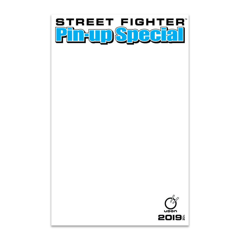 2019 Street Fighter Pin-Up Special Blank Sketch Cover
