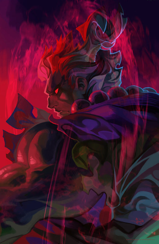 Akuma - Street Fighter: Dark Warriors Premium Print