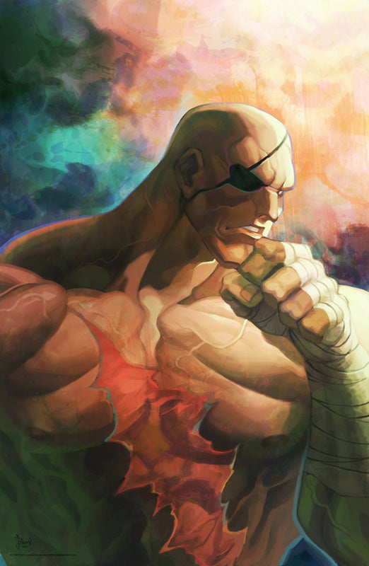 Sagat - Street Fighter: Dark Warriors Premium Print