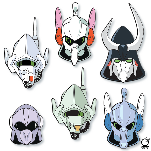 ROBOTECH - Southern Cross Character Helmet Collector's Pins