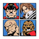 Super Street Fighter II Turbo Character Select Pins - Set of 4 Kings (Regular Variant)