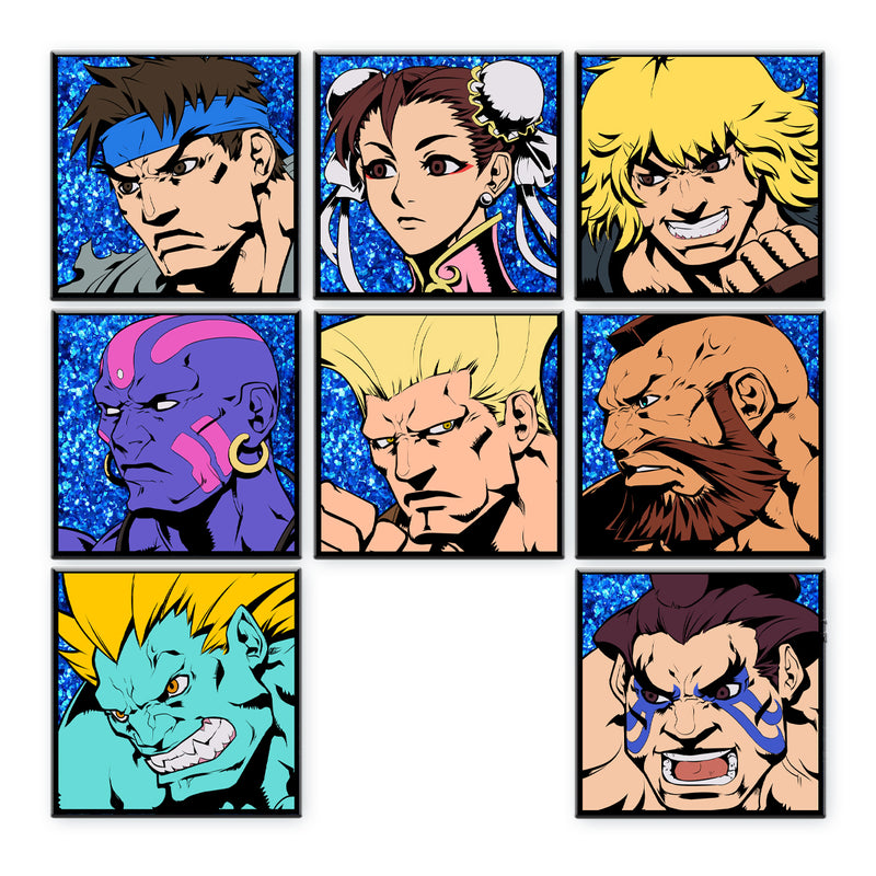 Super Street Fighter Ii Turbo Character Select Pins Set Of 8 Origina Udon Entertainment
