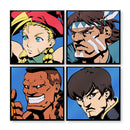 Super Street Fighter II Turbo Character Select Pins - Set of 4 New Challengers (Regular Variant)