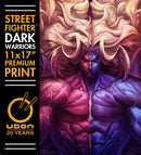 Gill - Street Fighter: Dark Warriors Premium Print