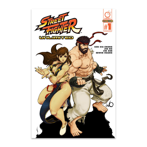Street Fighter Unlimited #1 Rare Hot Ryu/Chun Li Cover