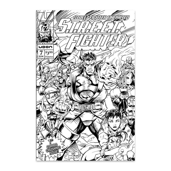 Street Fighter Unlimited #7 UDON-Exclusive Homage B/W Cover