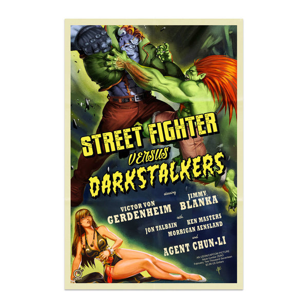 Street Fighter VS. Darkstalkers Issue #0 1:10 Incentive Movie Poster Cover