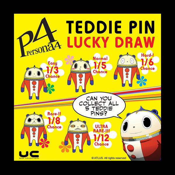 Persona 4 Teddie Lucky Draw Pins