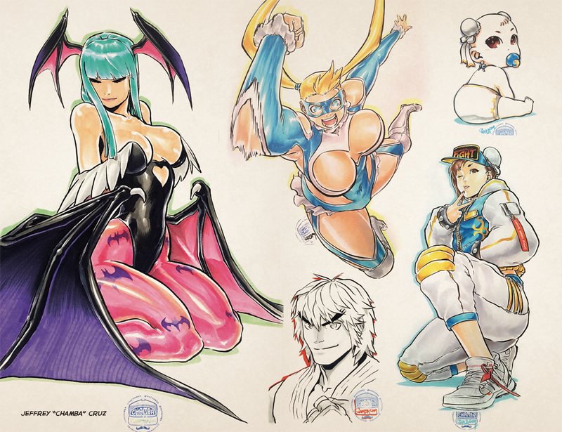UDON X Capcom: Sketchbook Alpha - Blank Sketch CVR- Online Exclusive