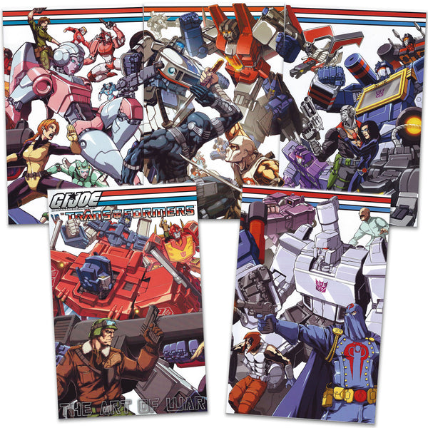 Bundle - GI Joe Vs Transformers: Art of War #1-5 UDON-Exclusive Covers