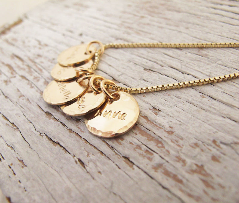 Grandmother, Mother Necklace, Gold