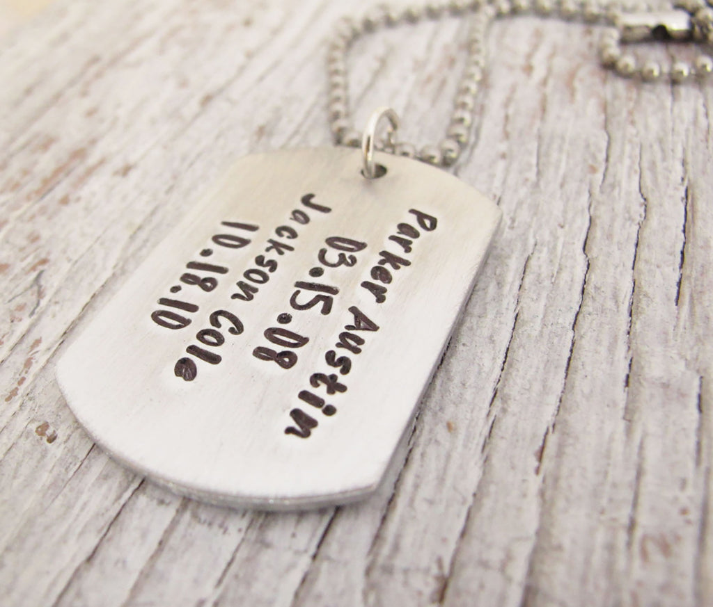Personalized Dog Tag, Military Jewelry