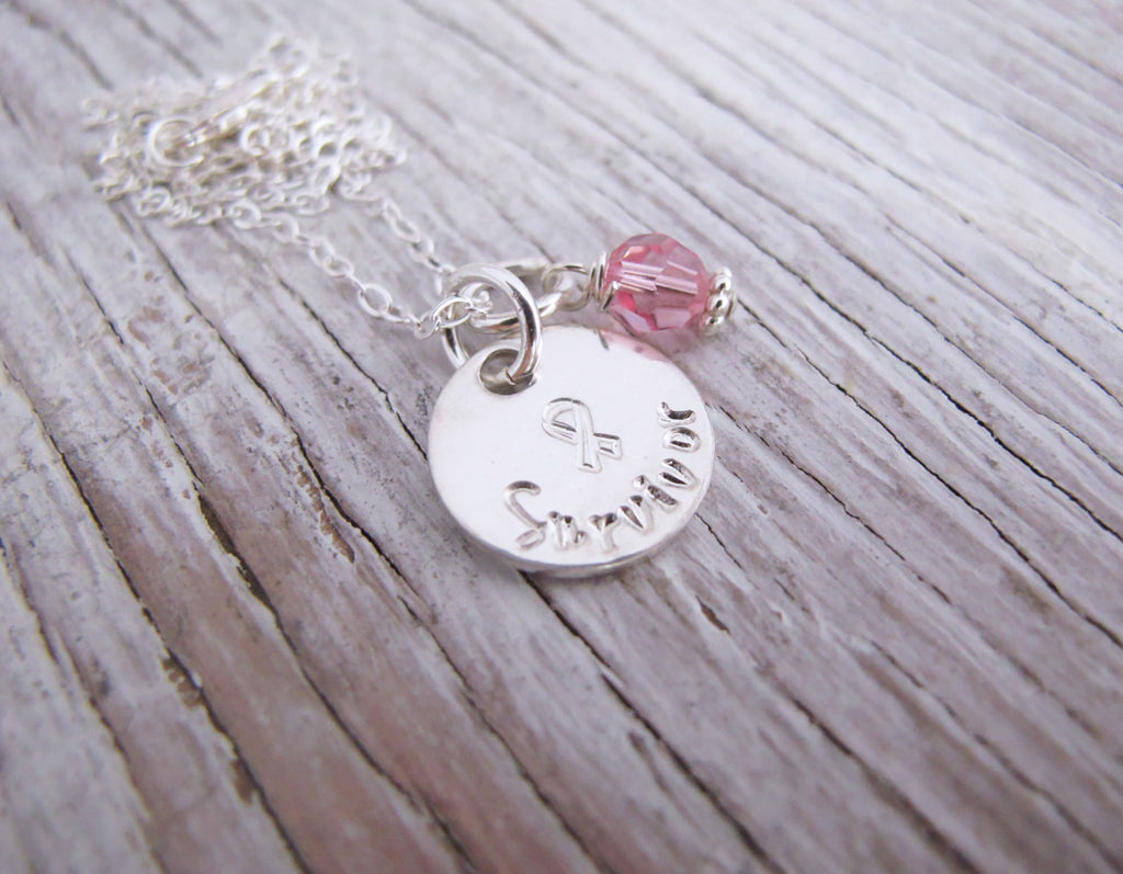 Survivor necklace, Breast Cancer Necklace, Awareness Jewelry