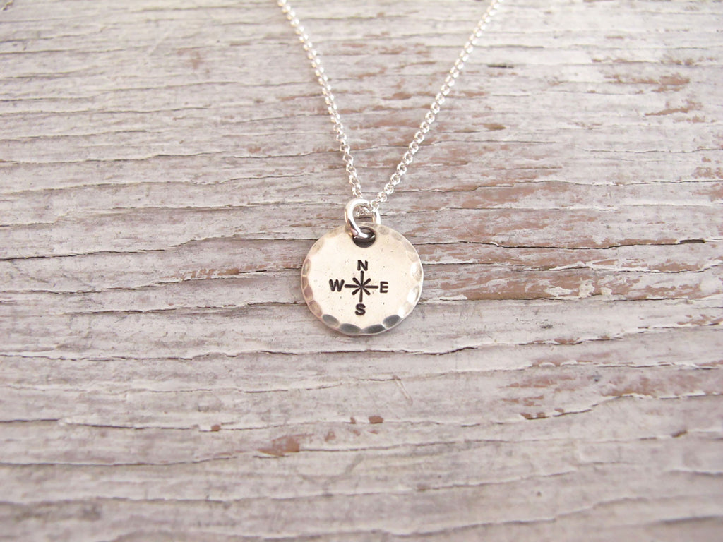 Compass Necklace, Life is a Journey