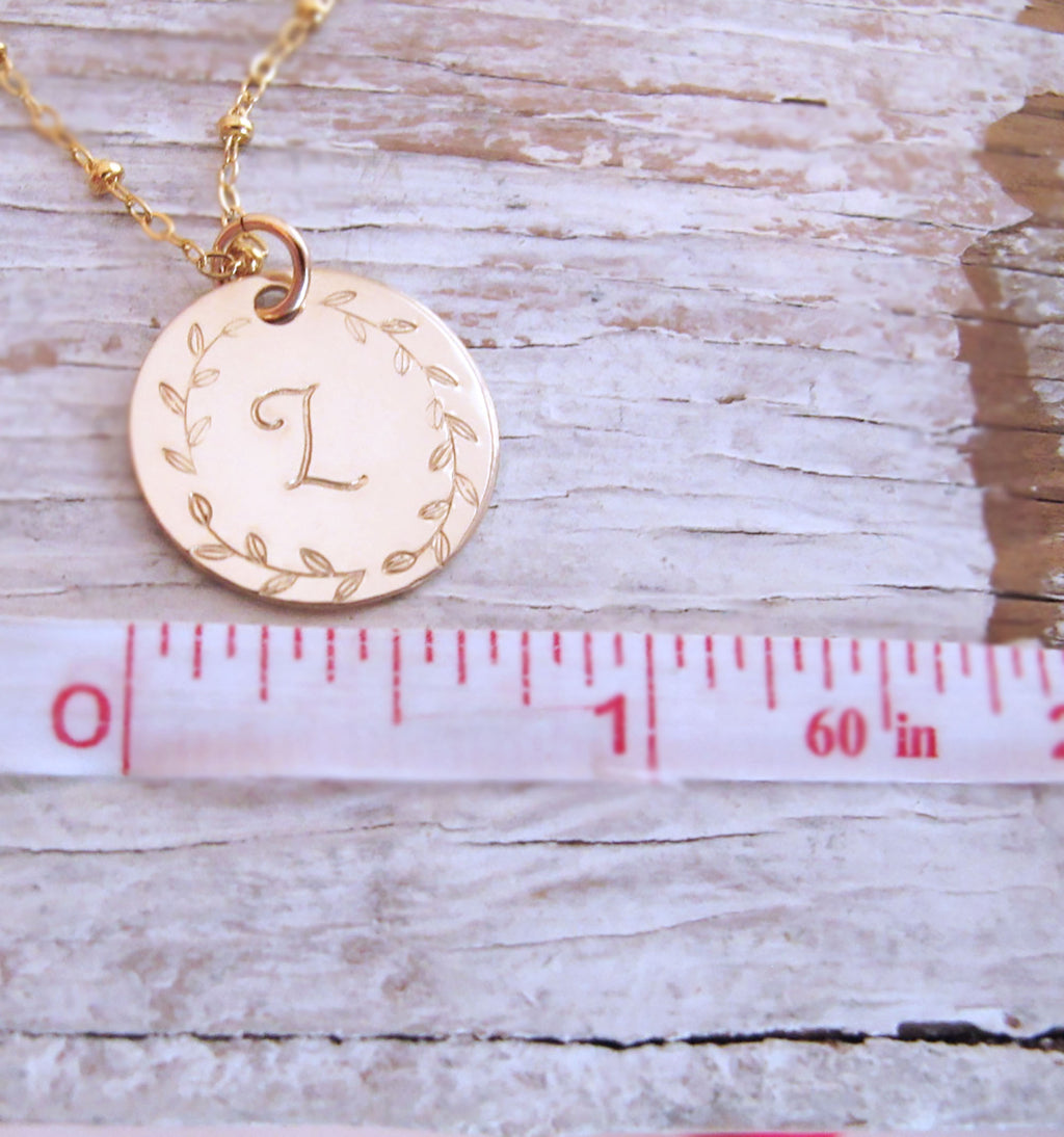 Gold Filled 14k Initial Necklace