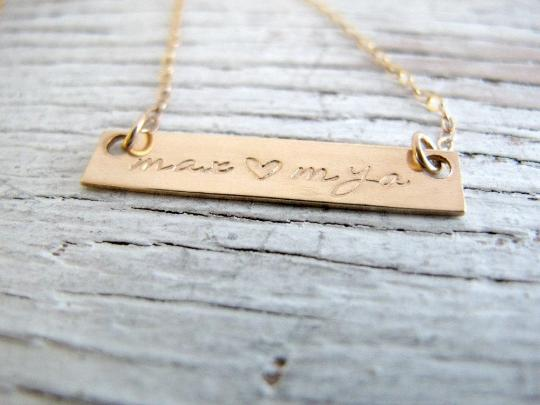 Mother's Gold Bar Necklace
