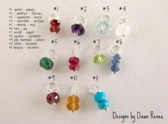 Genuine Birthstone, Tiny Necklace Add On