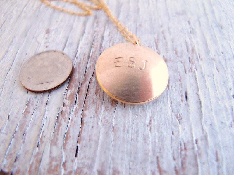 Personalized Gold Locket, with Secret Message